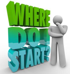 Where Do I Start Thinker Person Wondering Direction Plan